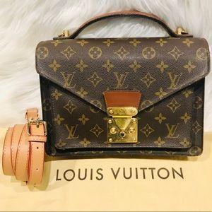 Authentic Louis Vuitton Monceau Bag #2.4Q